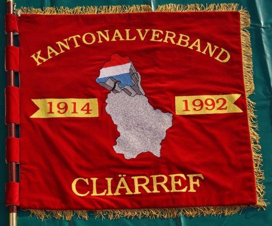 De Fändel vum Kantonalverband Klierf